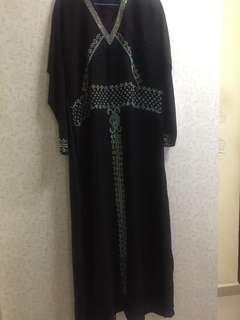 Stone Black Abbaya from UAE