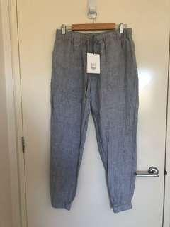 Witchery Linen Grey Pants Size 12