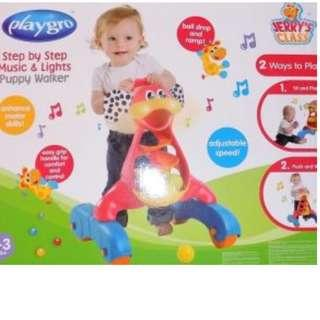 PlayGro Step By Step Music & Lights Puppy Walker