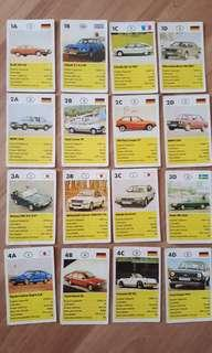 Vintage Sedan Cars Cards 1980s 32 pcs Complete - Top Trump