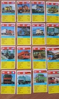 Vintage Truck Cards 1980s 26 pcs - Top Trump