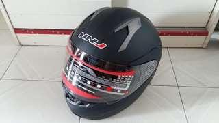 HNJ電單車雙鏡揭面頭盔