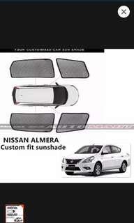 Custom Fit Sunshades for Nissan Almera (4 pcs) NEW YEAR SALE!!!!