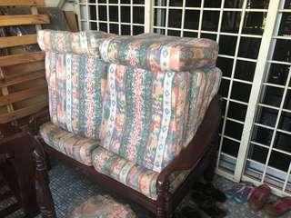 Wood Sofa and Cusion