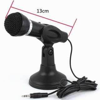 Brand NEW Wired Dynamic Omnidirectional Microphone with mini stand for PC Smartphone Clearance!!