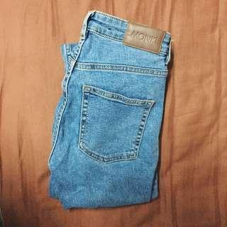 Monki mid waist jeans