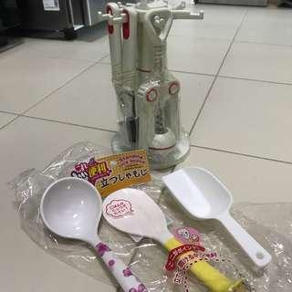 🆕 Scoop / spoon / ladle, wine opener and etc