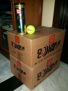 Old stock Wilson Double Core unopened tennis ball tins.