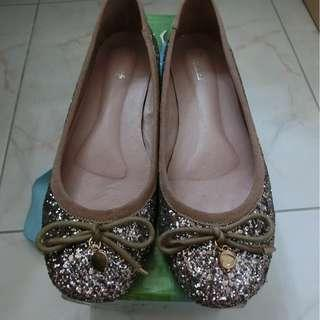 Japan Ballet Pink Bling Bling Ballerina Flat 日本粉色閃閃平底鞋