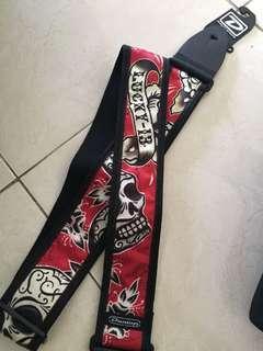 Dunlop Guitar Strap Lucky 13 New! Langka!