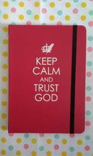 🚚 BN Keep Calm and Trust God Journal