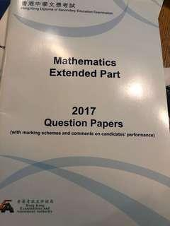 HK Dse Mathematics Extended Part 2017