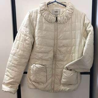 [全新]女裝棉褸 象牙白色