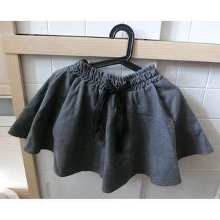 韓國 深灰 裙褲