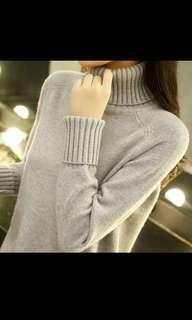🚚 高領針織毛衣-灰