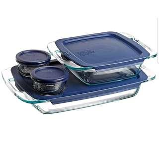 * Promo! Pyrex Easy Grab 8-Piece Glass Bakeware and Food Storage Set 8 pc set Clear