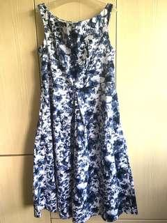 BNWT LAB Love and Bravery Blue Floral Midi Dress