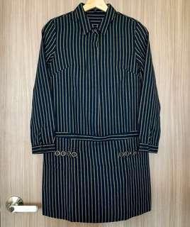 🚚 BN MDS Striped Shirt Dress