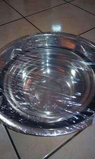 Stainless steel mixing Bowls 3 pcs