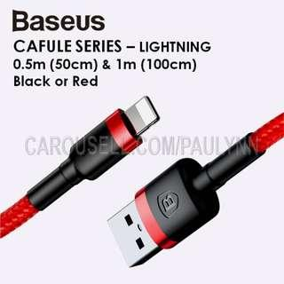 FROM $4.50 SALES! Baseus Cafule Lightning Cable 50cm And 1m