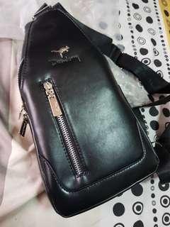 PU Leather Premium Men Sling Pouch