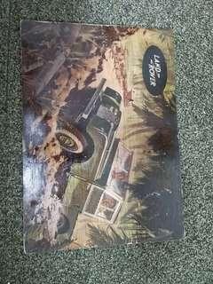 Land Rover mural display plywood 30x42cm