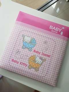 Hello kitty baby book and photo album bundle