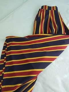 [Instock] Three Toned Stripe Palazzo Culottes