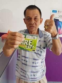 RM40 Tahan 850 hari Sim Pack XOX