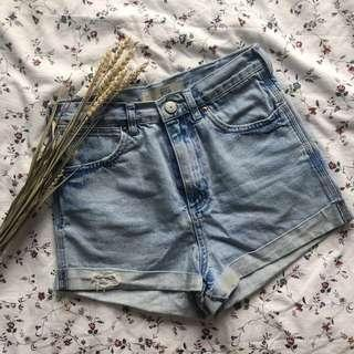 Topshop High Waisted Shorts Rosa