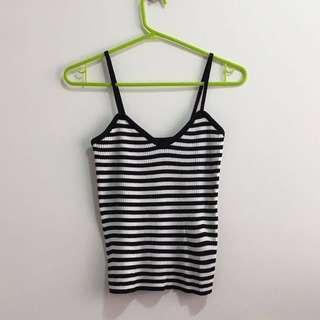 🚚 [SALE] Striped Singlet Camisole Ribbed Top INSTOCK BN