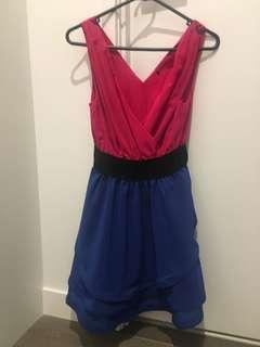 Gorgeous Colour Block Mini Dress - Size 10