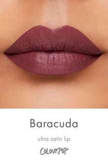 ULTRA SATIN LIPS colourpop BARACUDA