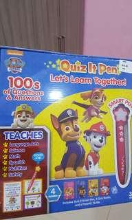 Paw Patrol learning Book