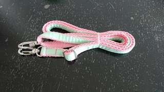 EUC pink mint long 1cm adjustable strap