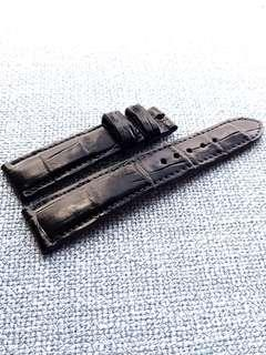 20mm Genuine Crocodile belly midnight blue watch strap for Rolex Omega JLC Grand Seiko etc