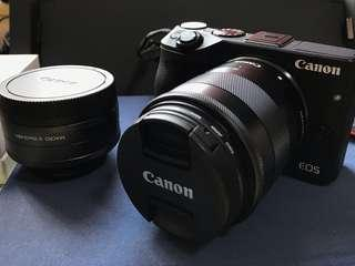 Canon EOS M3 連18-55mm and 22mm 定焦鏡