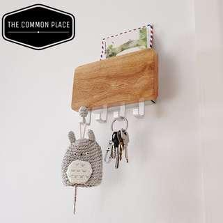 INSTOCK Wooden Key & Envelope Holder Scandinavian Home Decor