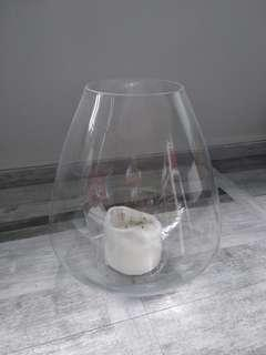 Decorative Candle Glass Bow Stand