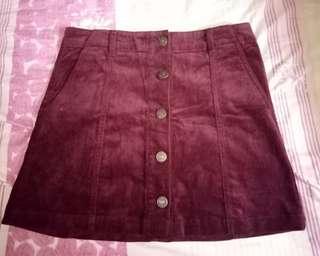 A-Line Skirt Maroon
