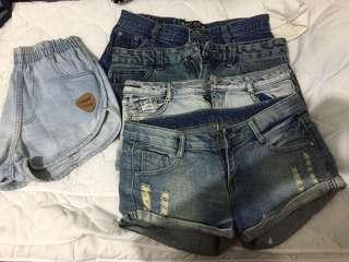 Bundle price Take all my top 5 favorite denim short for 700 instead of 830