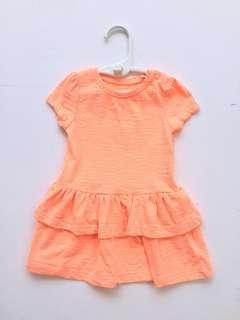 Mothercare Baby Girl Dress (Orange)