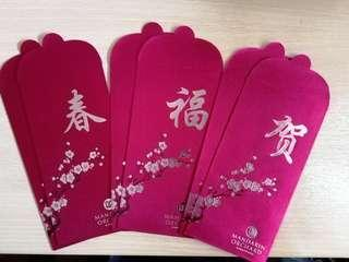🚚 Set of 6 Mandarin Orchard Red Packets Ang Pow