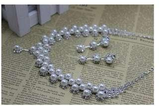 日本品牌頸鏈連耳環 Japanese brand necklace & earrings