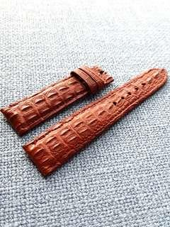 20mm Genuine Crocodile Hornback Oak Brown Watch Strap for Rolex Omega JLC Grand Seiko etc