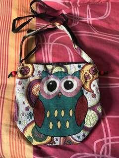 Owl Dual Bag! Sling or hand carry!! BN!