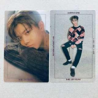 wanna one bae jinyoung nothing without you photocards