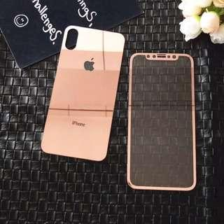 Front and back iPhone X tempered glass mirror protector