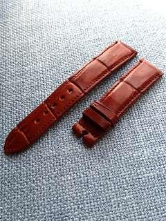 Genuine 20mm Crocodile Belly Mahogany Brown Watch strap for Rolex Omega JLC Grand Seiko etc
