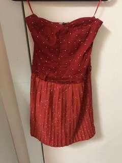 Bershka Red Tube Dress